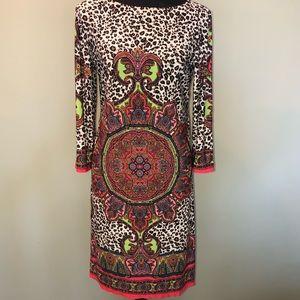 London Times Leopard Print Dress Size 9